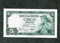 BILLETE 5 PESETAS 1954 CON SERIE   SC   SIN CIRCUALAR CORRELATIVOS  PAREJA TRIO