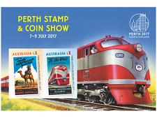 2017 Australia Perth Stamp & Coins Show Mini-sheet Trans-Australian Railway