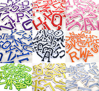 Letter Patches Embroidered Patch Letters Sew on Iron On Alphabet Clothes Crafts