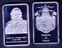 ★★★★★ MAGNIFIQUE MEDAILLE PLAQUEE ARGENT ● ROIS DE FRANCE ● LOUIS XV ★★★★★