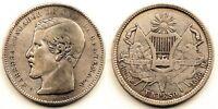 Guatemala-1 Peso 1866. MBC+/VF+. Plata 24,4 g. ESCASA