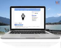 eBay vorlage 2020 Auktionsvorlage Template Design 100% mobile optimiert hellblau