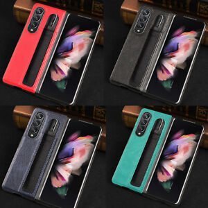 For Samsung z Fold 3 Shell Anti-Drop Pen Slot Mobile Phone Protective Case