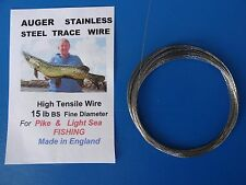 15 lb BS Stainless Steel  Fishing Wire made in England