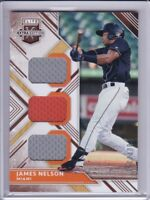 2018 Elite Extra Edition Triple Materials James Nelson RC #SP/399 Marlins