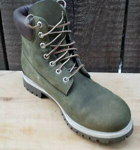 "Timberland Ltd Release 6"" Premium Boots Men's Size 10M Green Suede Waterbuck"