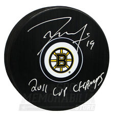 Tyler Seguin Boston Bruins Signed Autographed 2011 Cup Champs Inscribed Puck