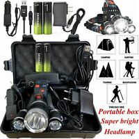 Rechargeable 100000LM T6 LED Headlight Headlamp Head Torch Flashlight Work Light