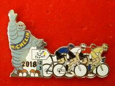 PIN'S TOUR DE FRANCE CYCLISTE 2018 - FOND ARGENT - MICHELIN - CHAMPIGNONS