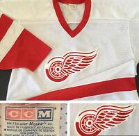 Vintage CCM NHL Detroit Red Wings Jersey Hockey 90s Maska Stitched Men L No Name