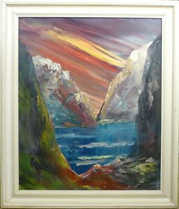 ERLING DYREMOSE! MOUNTAIN LANDSCAPE WITH LAKE