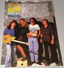 "Edward Van Halen 1988 - ""New Priorities"" - Guitar Magazine - Pamphlet / Poster"