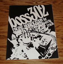 1969 1970 1971 Ford Boss 302 Engine Manual Brochure 69 70 71