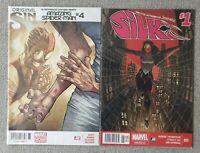 Amazing Spider-Man #4 & Silk #1 - 1st app Silk - MEXICAN EDITIONS