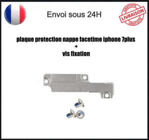 Plaque Cache Fer Fixation Protection Caméra Avant Facetime Iphone 7 Plus + Vis