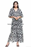 New Hippie Boho Caftan Kaftan Kimono Sleeve Women Cocktail Maxi Dress Plus Size