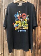 VTG 1999 Disney Parks Disneyland T Shirt Faded 2XL Made In USA Mickey Fab Five