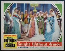 KNIGHT WITHOUT ARMOR MARLENE DIETRICH 1937 LOBBY CARD