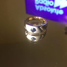 Sapphire & Diamond Ring with full Egyptian Hallmarks for 18ct Gold