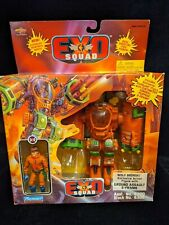 1995 Exo Squad Wolf Bronski with his Ground Assault E-Frame Near Mint in Box