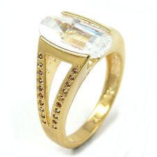 Unisex Echtschmuck mit Zirkon-Ringe