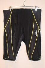 CW-X Endurance Generator Shorts Men's  BLACK/LIME X-LARGE XL 229805 NEW