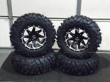 "POLARIS RZR 570 / 800 27"" QUADKING 14"" FURY ATV TIRE & WHEEL KIT 527 BIGGHORN"