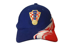 CROATIA  BLUE RED WITH CURVED COLORED STRIPES HNS LOGO ON BRIM EMBOSSED HAT CAP