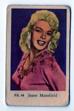 1950s Swedish Film Star Card PA Set #44 US Sex Symbol Jayne Mansfield