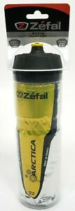 Zefal 165 Arctica 25oz Insulated Bicycle Water Bottle, Yellow