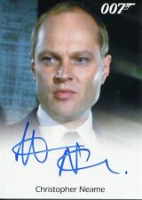 James Bond Archives 2017 Full Bleed Autograph Card Christopher Neame As Fallon