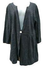 Motherhood Maternity Cardigan Sweater Gray  1 Button Knit Womens Size Large