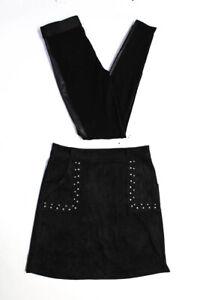 BB Dakota Bailey 44 Womens Faux Suede Faux Leather Skirt Leggings Size XS 6 Lot2