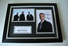 Rupert Graves Signed A4 FRAMED photo mount Autograph display TV Sherlock & COA