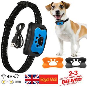 Anti Bark Collar Stop Dog Barking Sound & Vibration Adjustable S/M/L LED 3 Shell