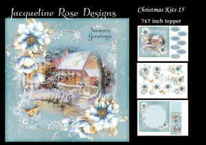 Christmas Kits 15 Decoupage 3 x A4 Sheet NOT DIE-CUT