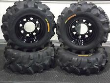 "POLARIS SPORTSMAN 25"" EXECUTIONER ATV TIRE- ITP BLACK ATV WHEEL KIT COMPLETE"