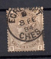 GB QV 4d grey brown SG160 Plate 18 Egremont CDS WS15251