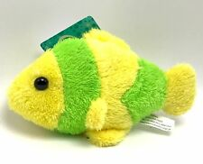 Clownfish Plush Stuffed Animal Fish Toy 4 inch Yellow Green New