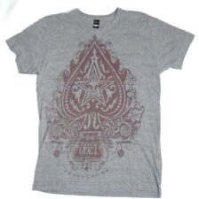 Vintage OBEY Grey & Red Short Sleeve  T-Shirt M