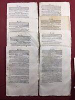 Douai en 1804 Rare Lot Journaux Consulat Feuille de Douai Nord Hauts de France