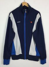 VINTAGE Ellesse Blu Retrò Sports Athletic Track Top Giacca Tuta Da Ginnastica UK L/XL