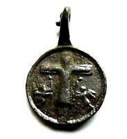 Miniatur Schutzamulett Bronze, 18.Jh. Pilgeranhänger Wallfahrtsanhänger
