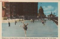 Postcard Skating Dufferin Terrace Quebec Canada