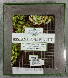 Portrait Gardens Wall Planter 8x10 - Instant Vertical Succulents Herbs Indoor