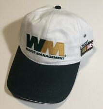 WASTE MANAGEMENT WM Logo Trucker Hat Baseball Cap Team Racing Nascar