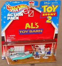 DISNEY TOY STORY 2 Hot Wheels Action Pack - BUZZ, WOODY, JESSIE +,  NEW on Card!