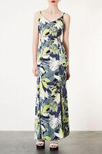 Topshop Leaf Split Hem Maxi Dress