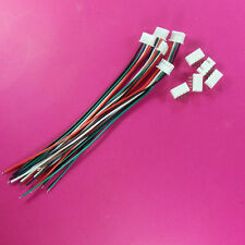 5 Sets XH Pitch 2.54mm 4Pin 4Way Wire To Board Connector 15cm 24AWG With Socket