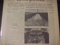 VINTAGE NEWSPAPER HEADLINE~WASHINGTON CIVIL RIGHTS MARCH SPEECH MLK DR KING 1963